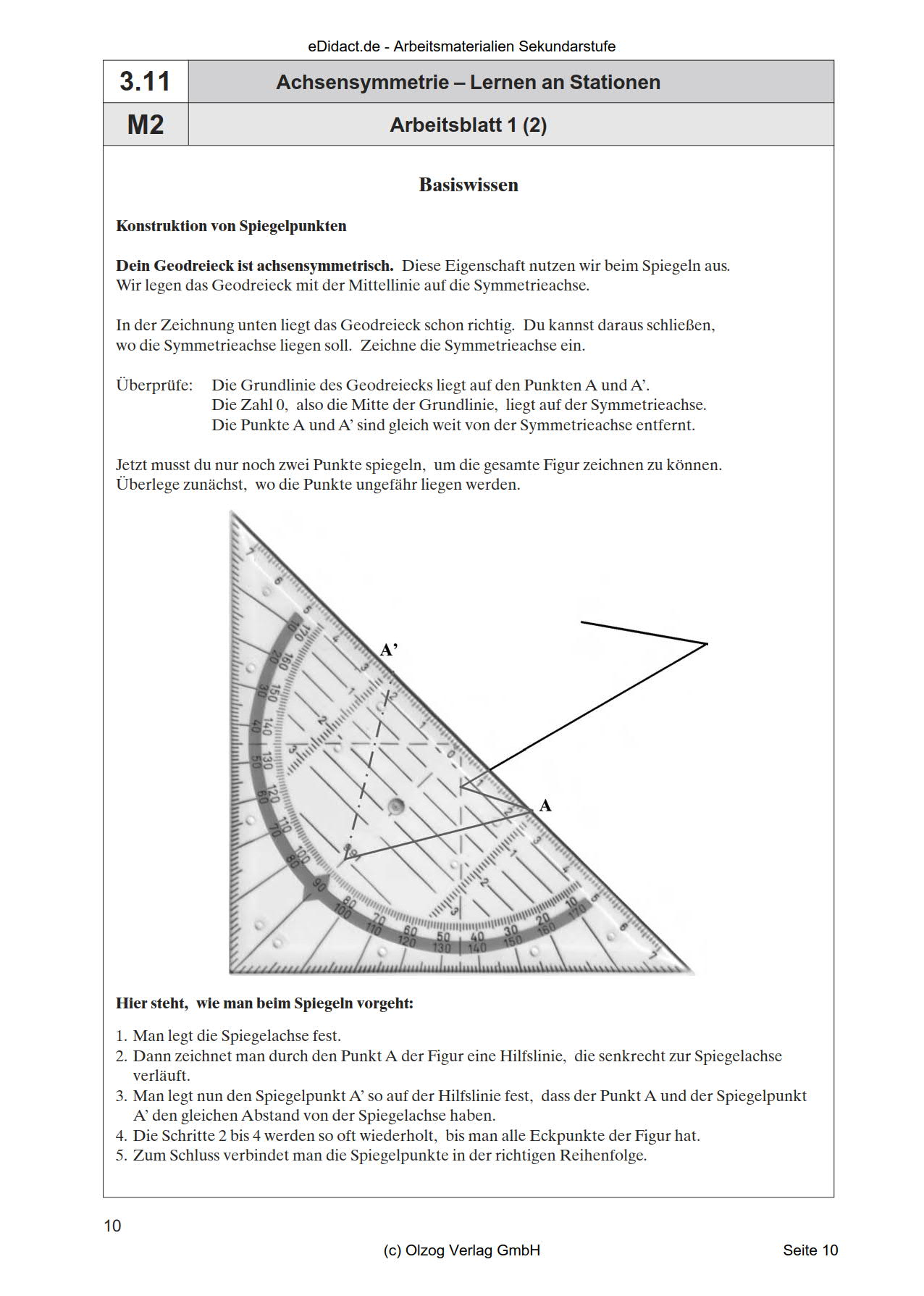 Achsensymmetrie   Lernen an Stationen
