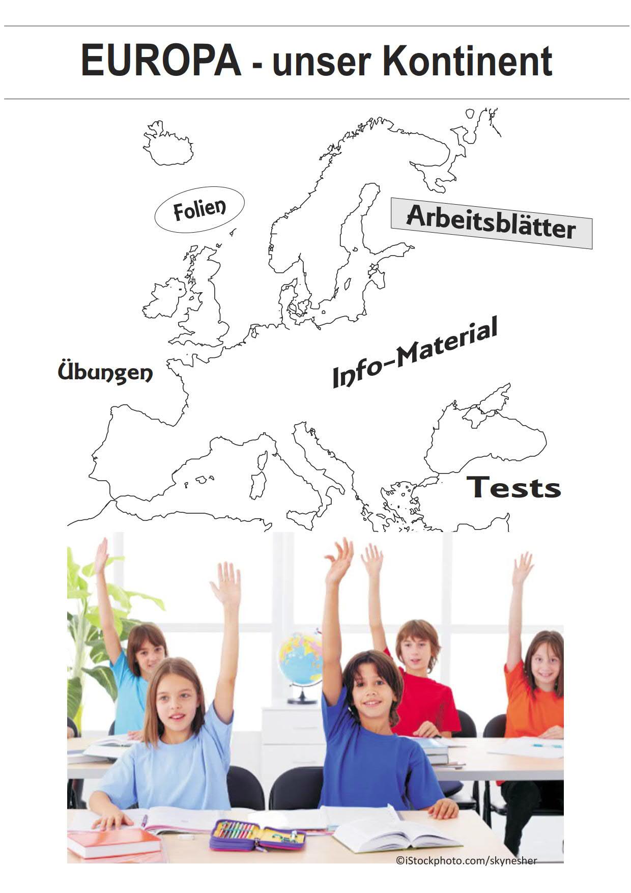Europa   unser Kontinent   Arbeitsblätter, Folien, Tests, Übungen ...