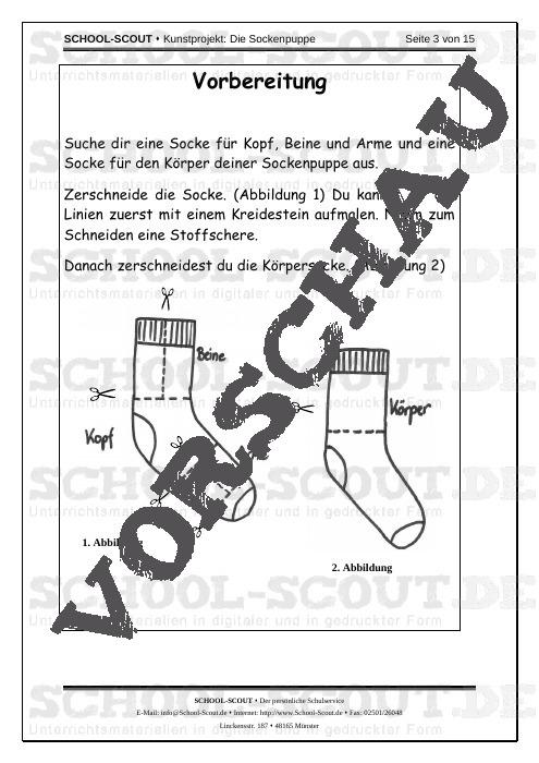 Kunstprojekt: Die Sockenpuppe - Textiles Gestalten in der Grundschule - Kunst/Werken