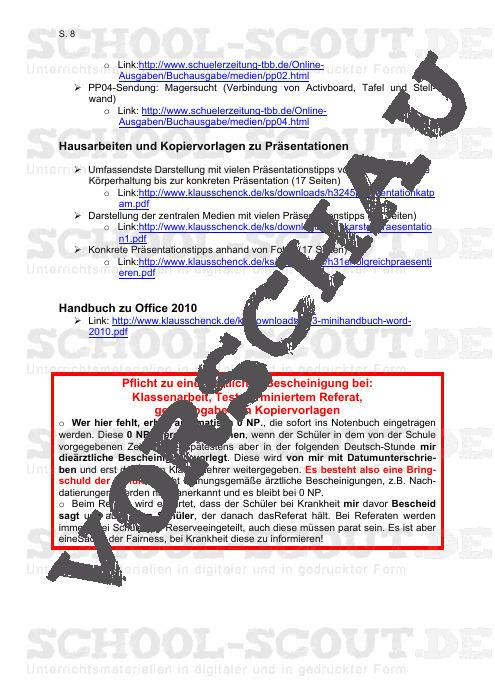 Präsentations-Bewertungsraster plus Anforderungsprofil - Schencks Reihe: Bewertungsstrategien - Deutsch