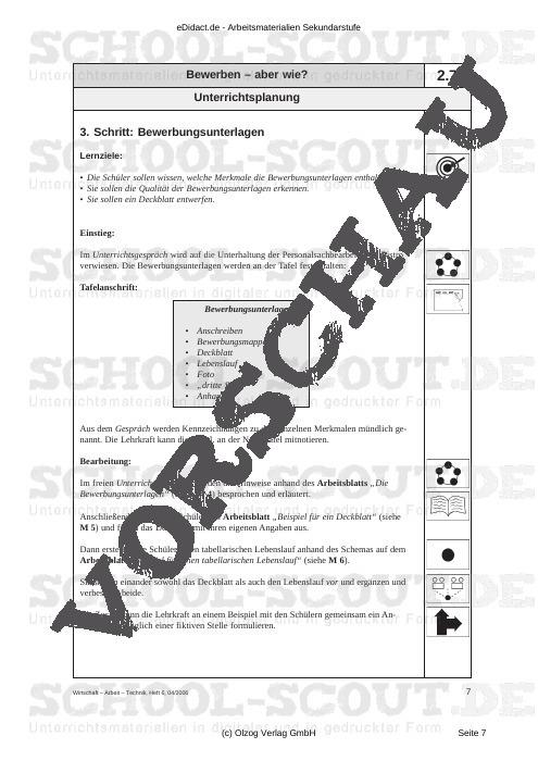 Bewerben - aber wie? - Fertig ausgearbeitete Materialien und Kopiervorlagen für einen lehrplangemäßen und innovativen Unterricht - AWT