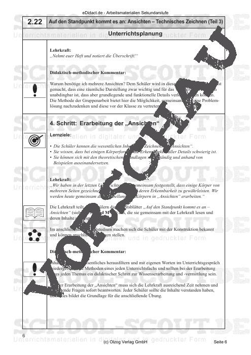 Technisches Zeichnen Teil 2: Auf den Standpunkt kommt es an: Ansichten - Arbeitsmaterialien und Kopiervorlagen für einen lehrplangemäßen und innovativen Unterricht - AWT