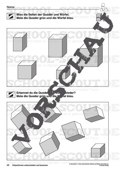 Geometrische Flächen und Körper kennenlernen